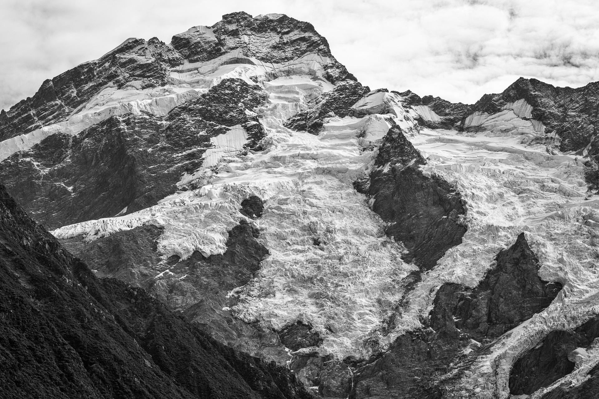 Glaciers at the top of Mt Tasman