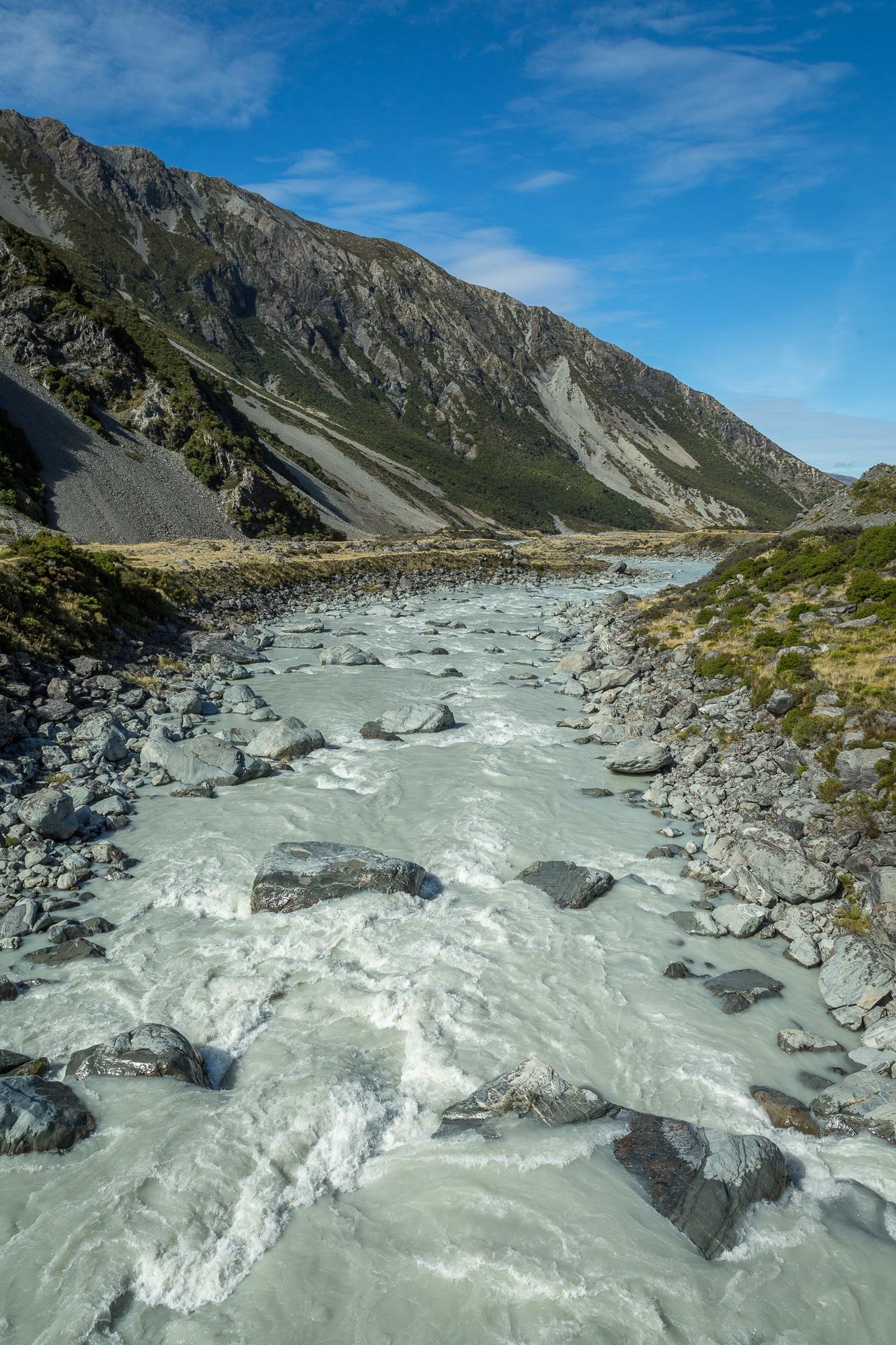 Milky glacial stream