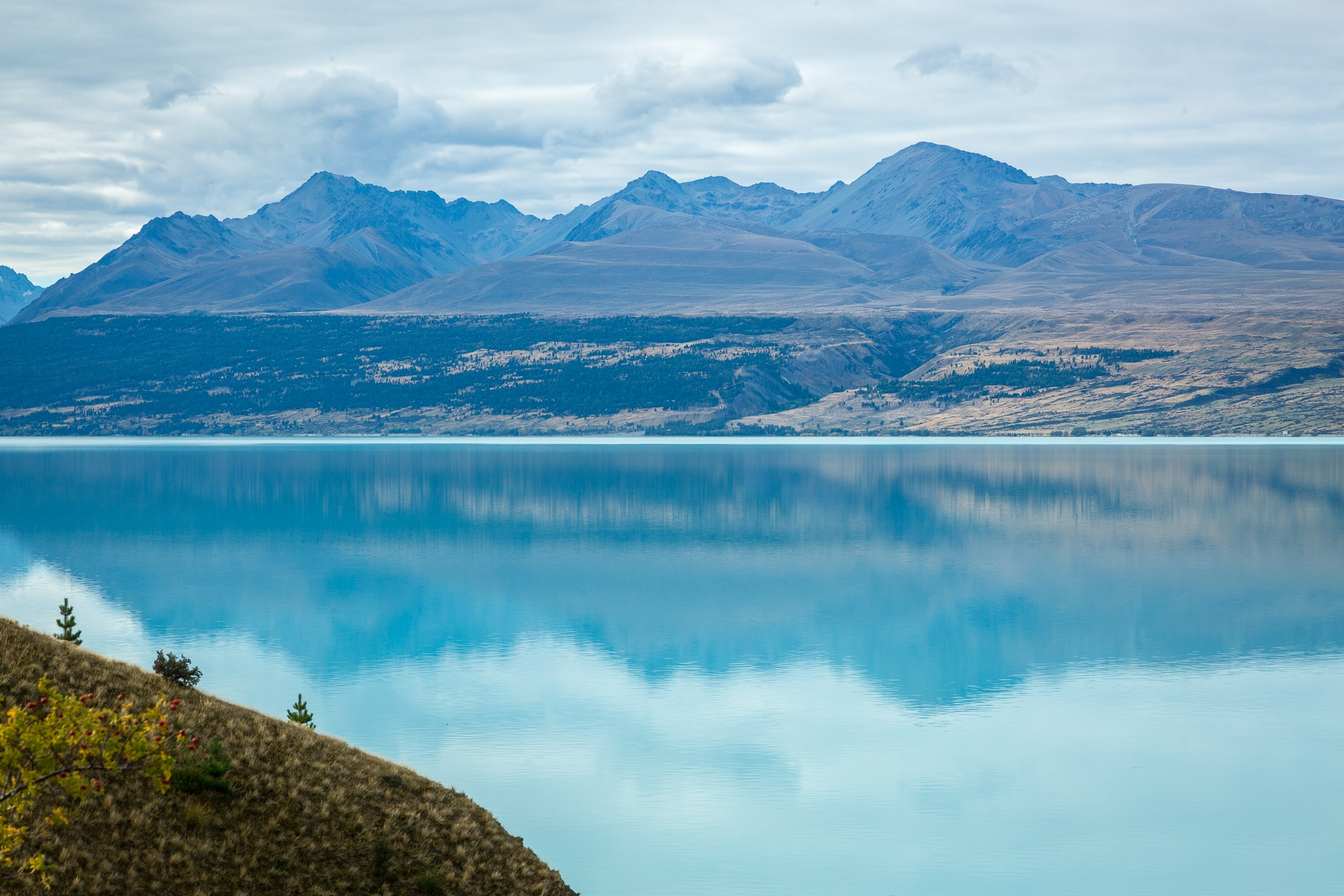 Turquoise colour of a glacial lake