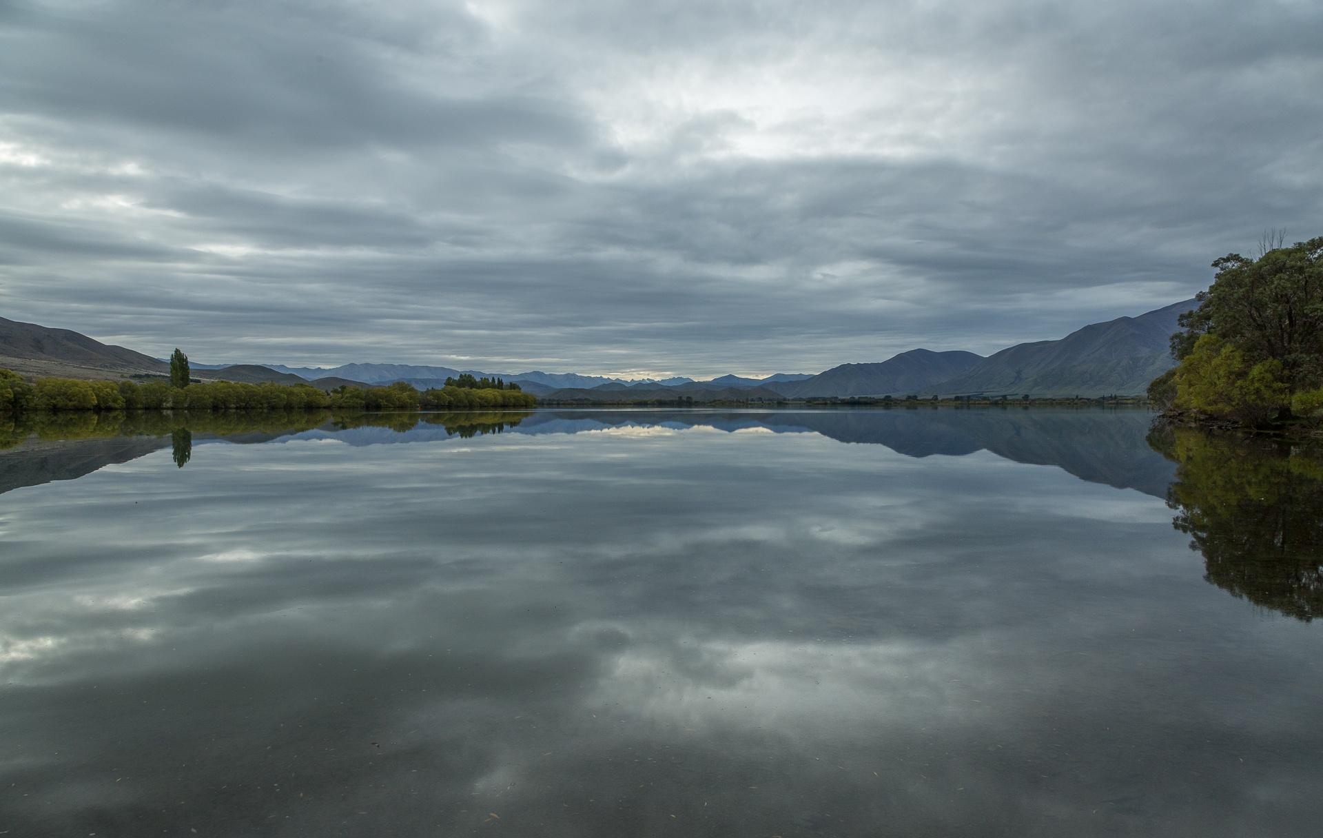 Moody lake scene