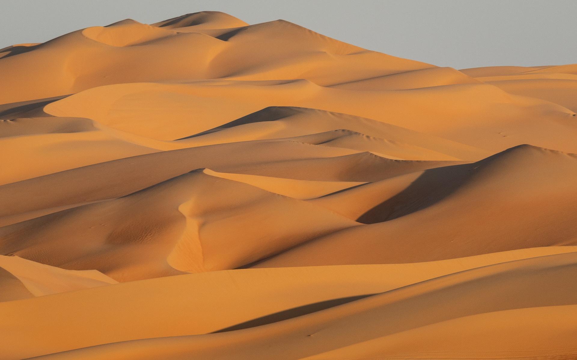 Mountainous sand dunes