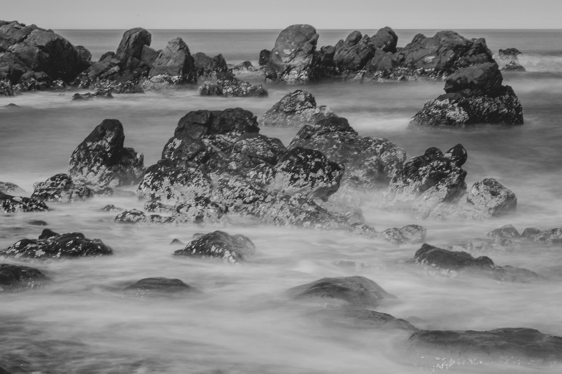 Sea and rocks in Kaikoura