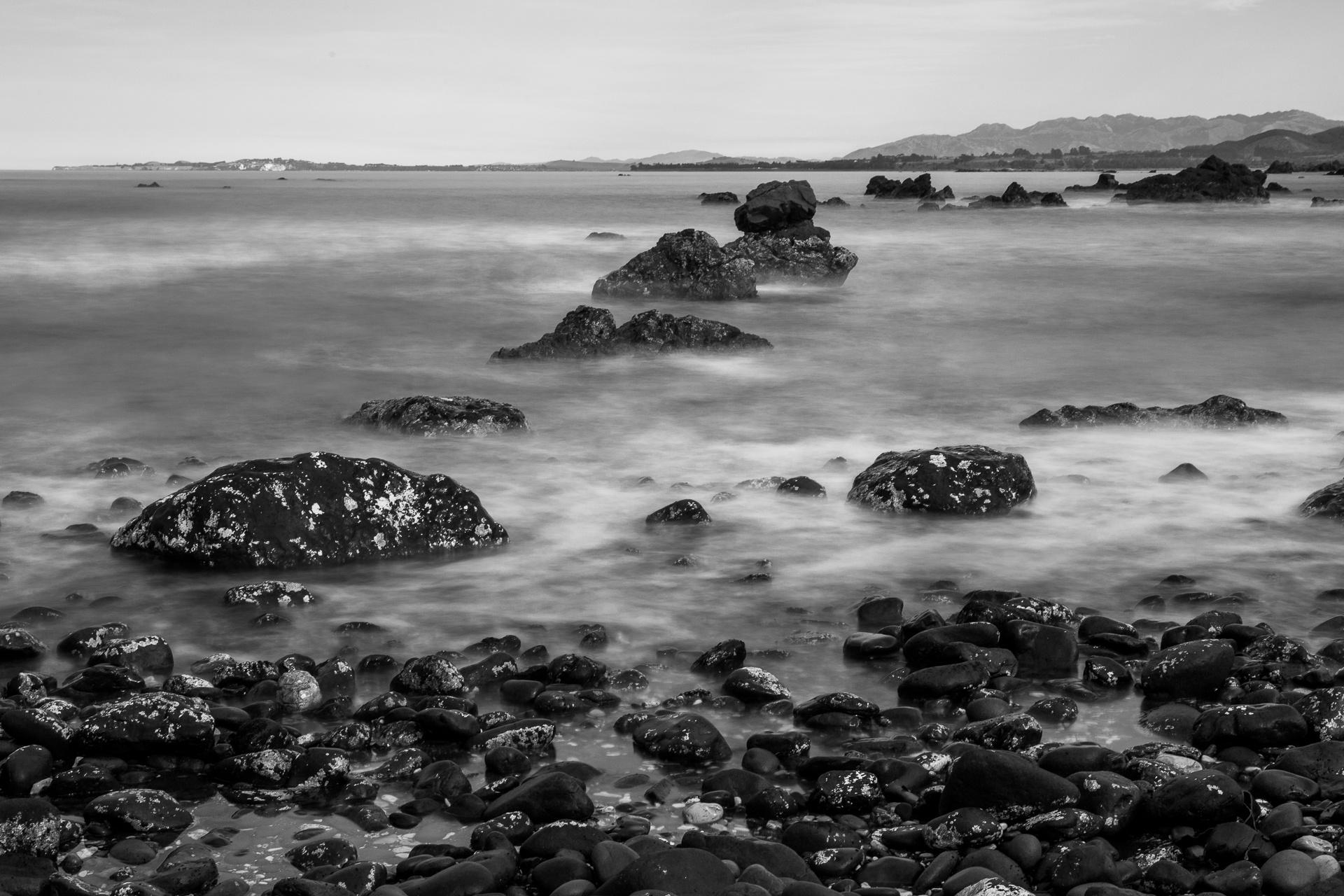 The wild, rocky Kaikoura coastline