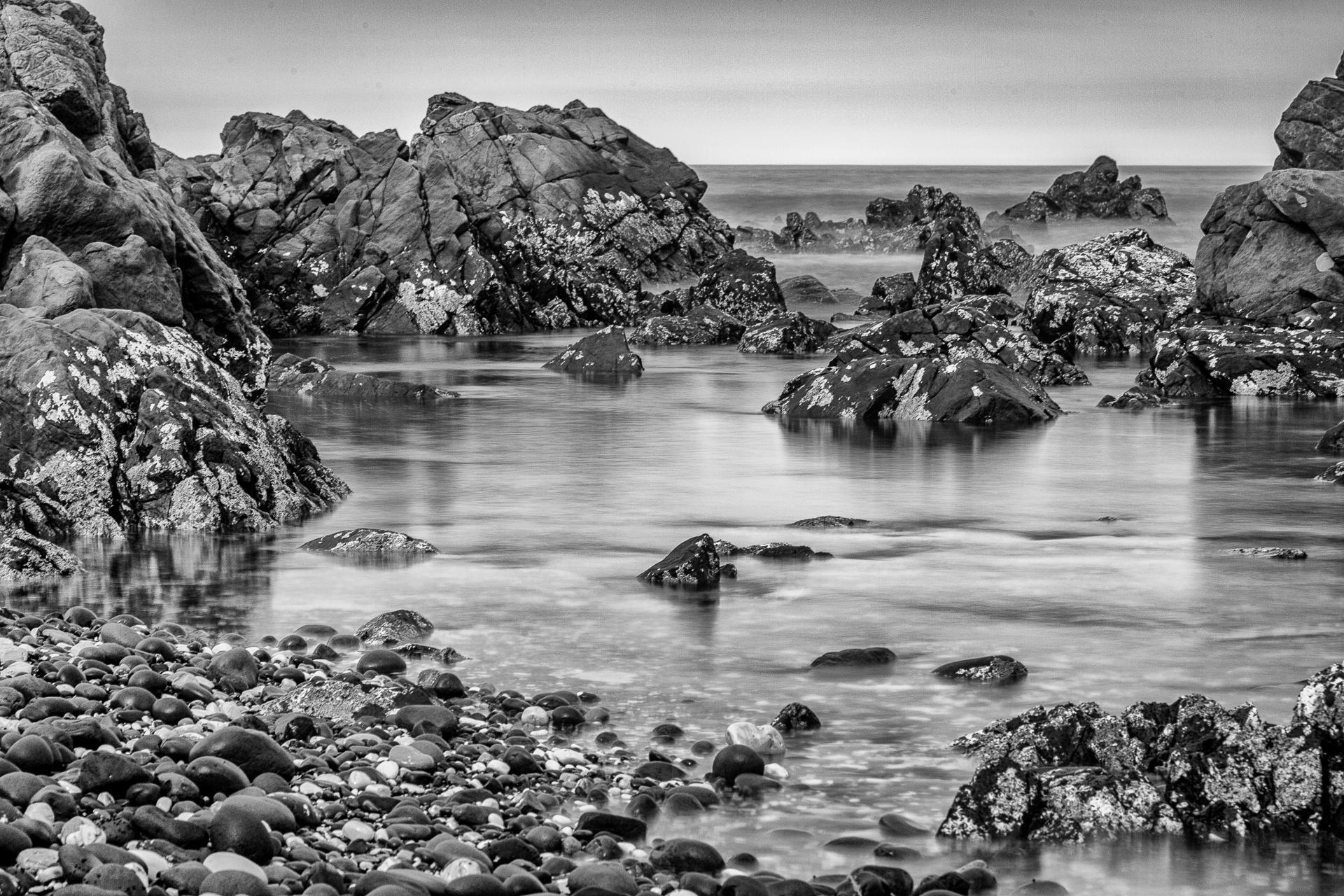 Stillness of a rock pool