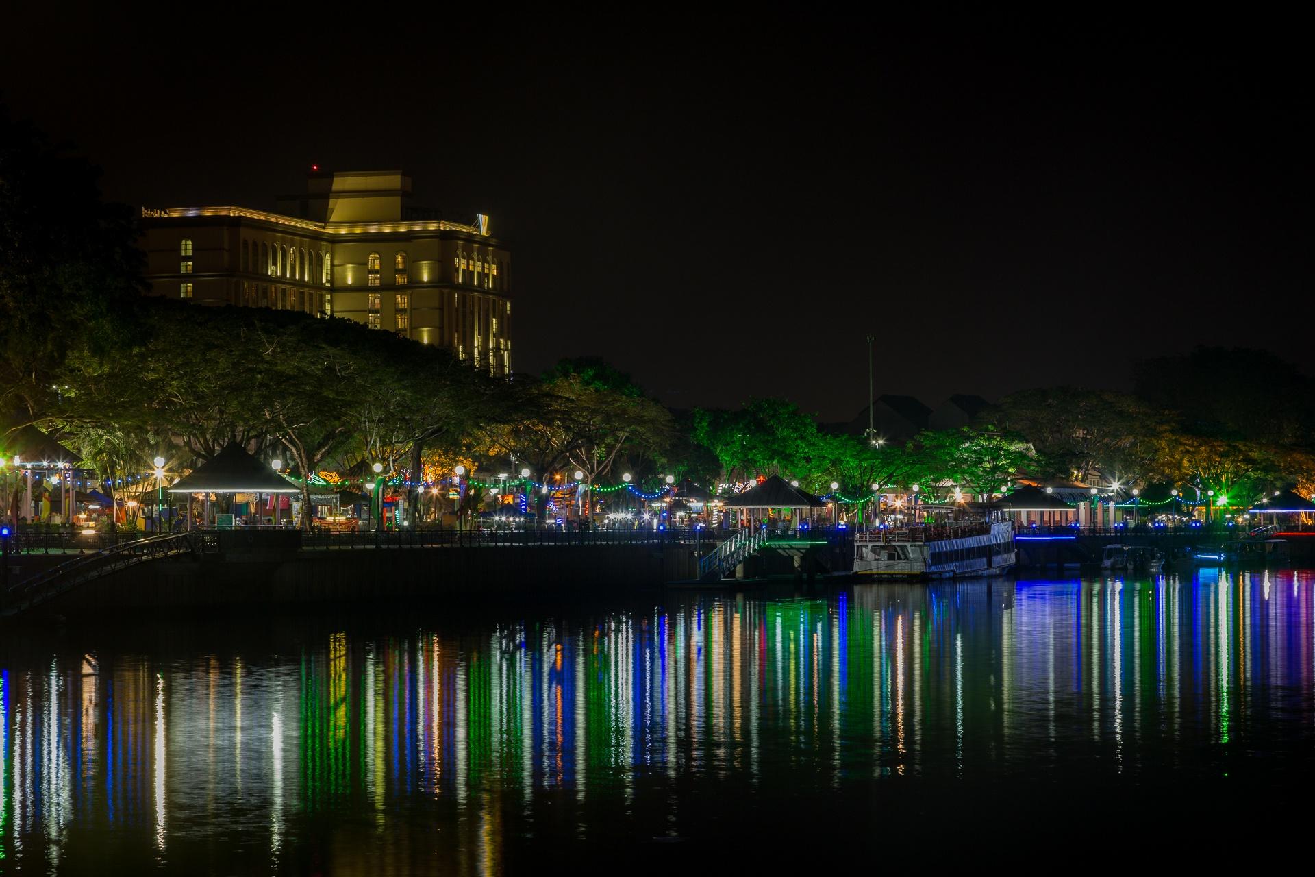 Lights on the Sarawak River