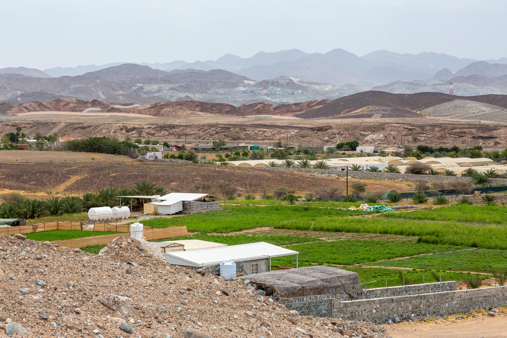 Village in the Hajar Mountains, Sharjah