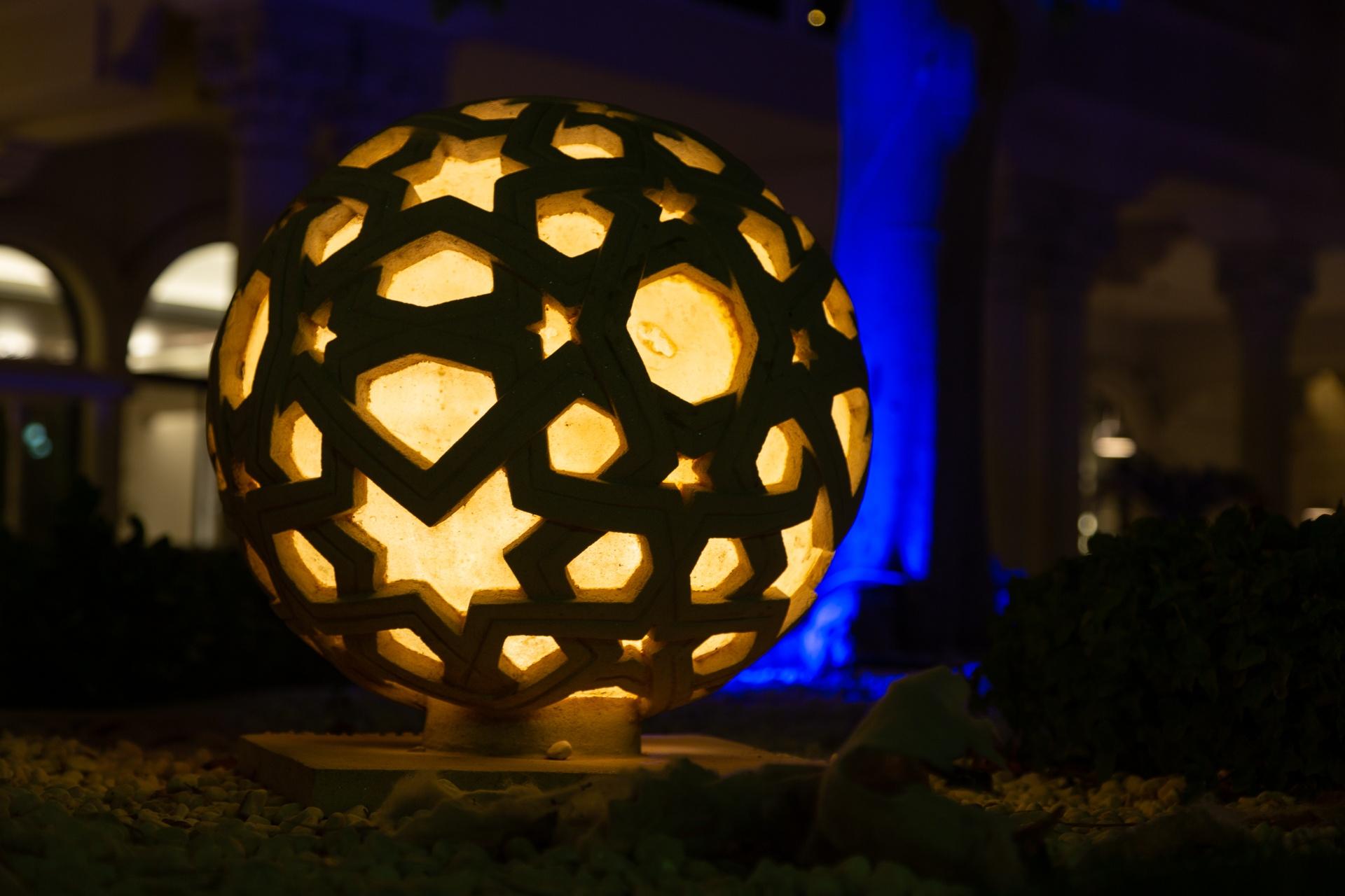 Stone sculpture at Al Qasbr, Sharjah