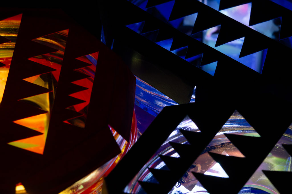 Abstract patterned light
