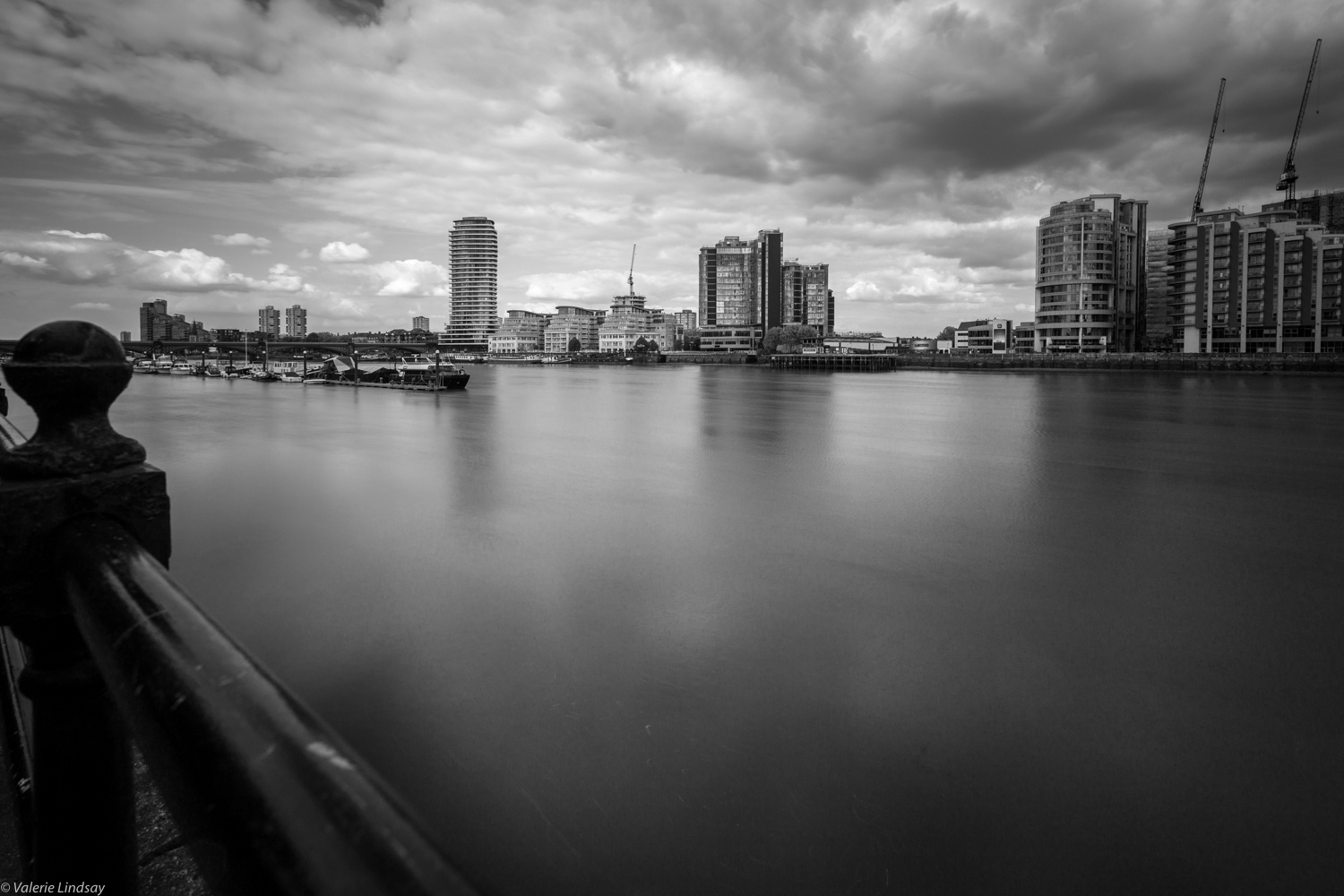 The Thames on a stormy day