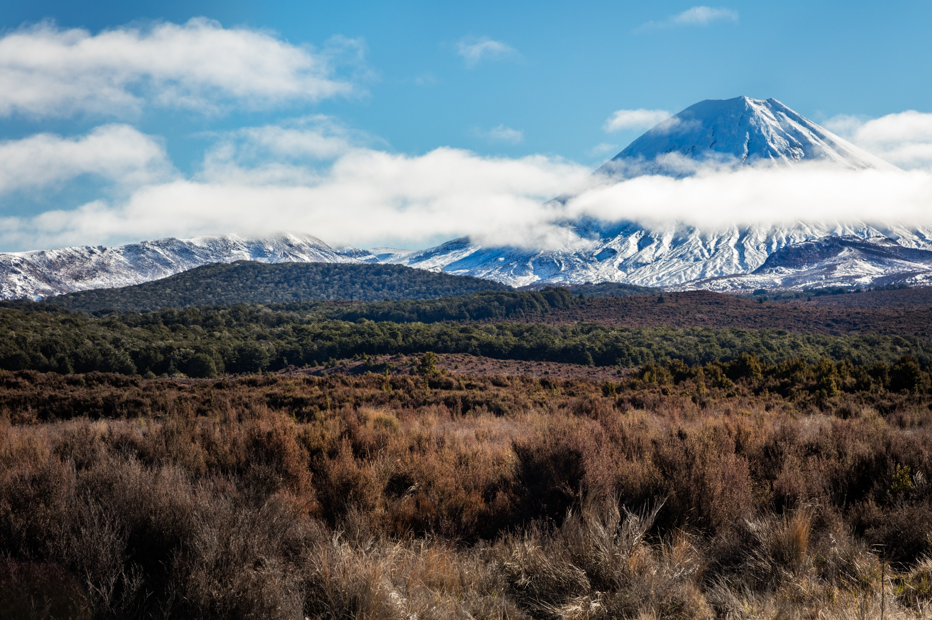 Mt Ngauruhoe from Central Plateau, NZ